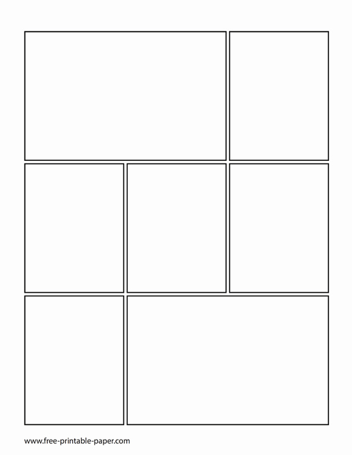 Comic Strip Template Word Elegant Printable Ic Book Page – Ic Book Template – Free Printable Paper