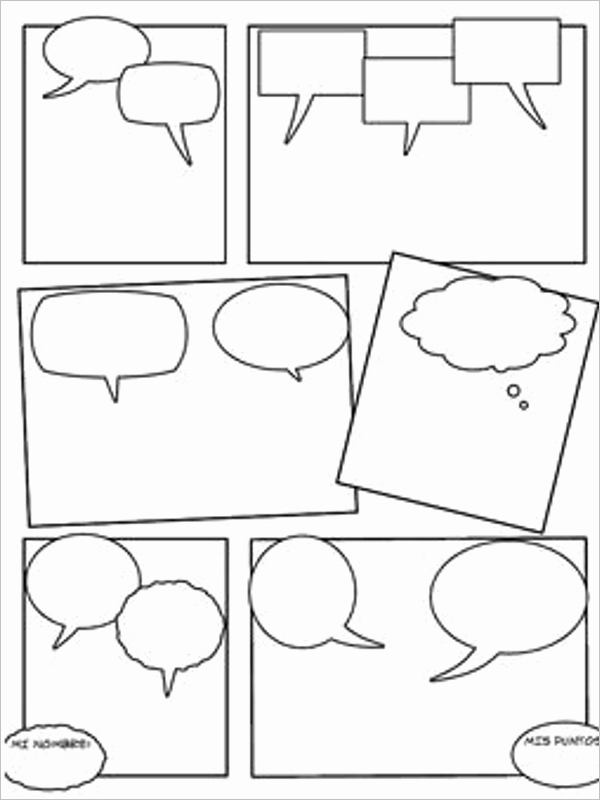 Comic Strip Template Word Inspirational 16 Ic Strip Template Free Word Pdf Doc formats