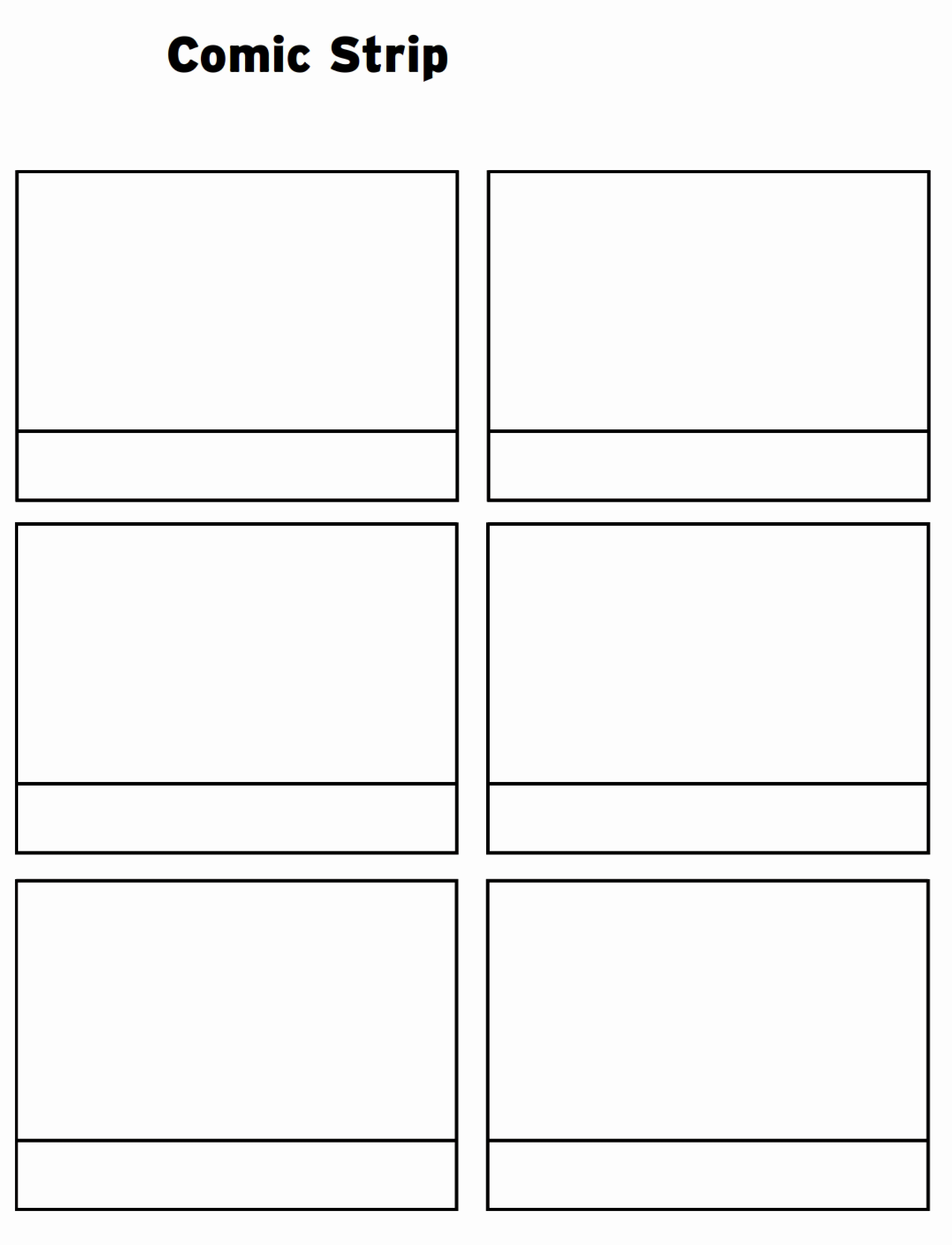 Comic Strip Template Word Inspirational Printable Ic Strip Template Pdf Word Pages