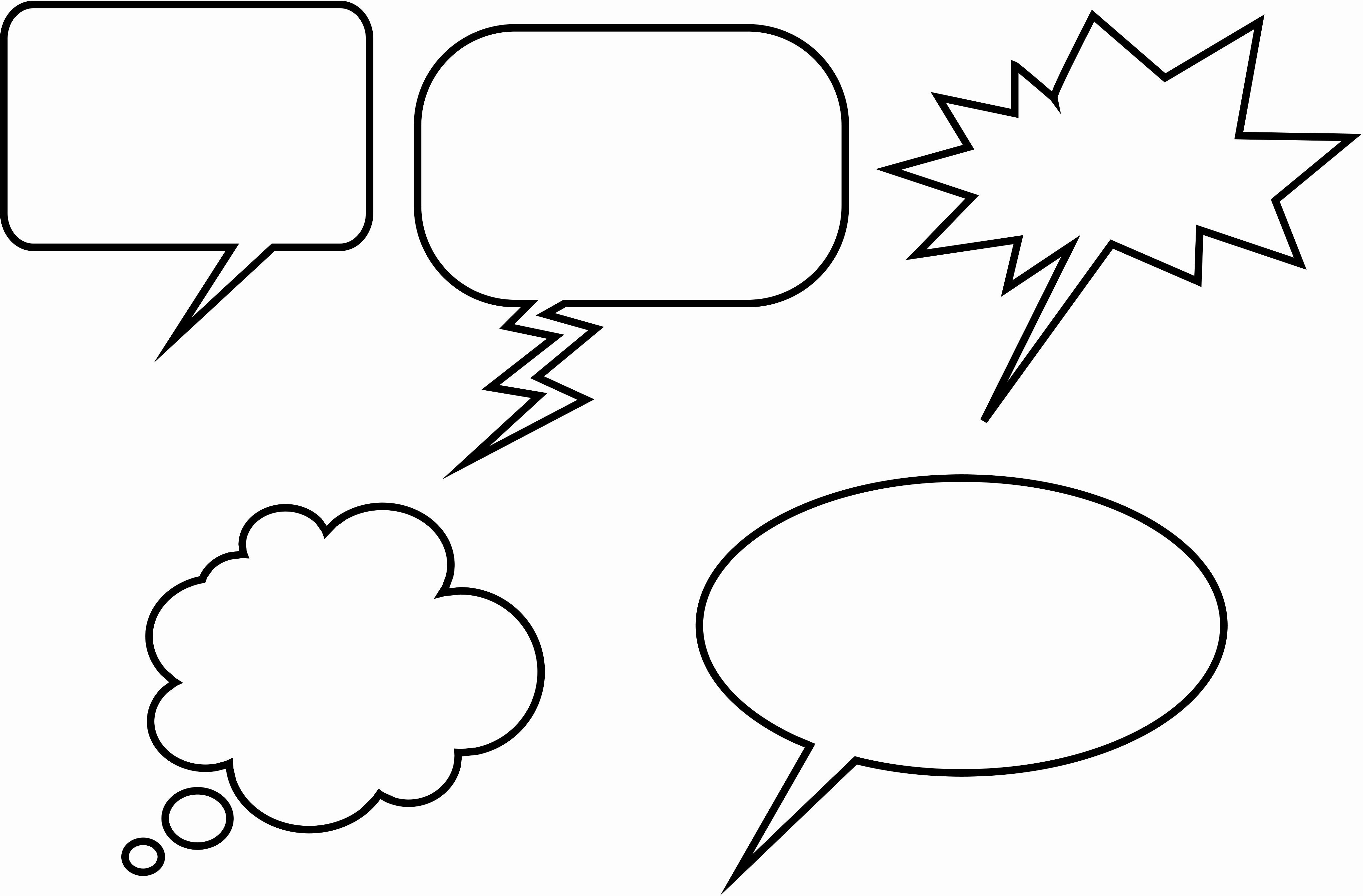 Comic Strip Template Word Lovely Ic Book Speech Bubbles Printable Clipart Best