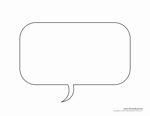 Comic Strip Template Word Luxury Free Printable Speech Bubble Templates Pdf format