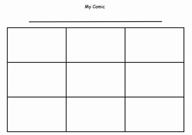 Comic Strip Template Word New Ic Strip Template