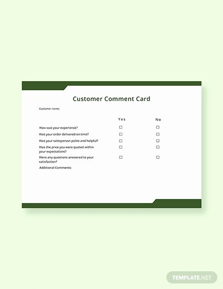 Comment Card Template Word Best Of Free Hotel Ment Card Template Download 217 Cards In Psd Illustrator Indesign Word