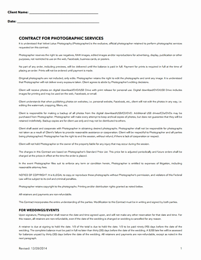 Commercial Photography Contract Template Beautiful Graphy Contract Template Free Download Create Edit Fill and Print Wondershare Pdfelement