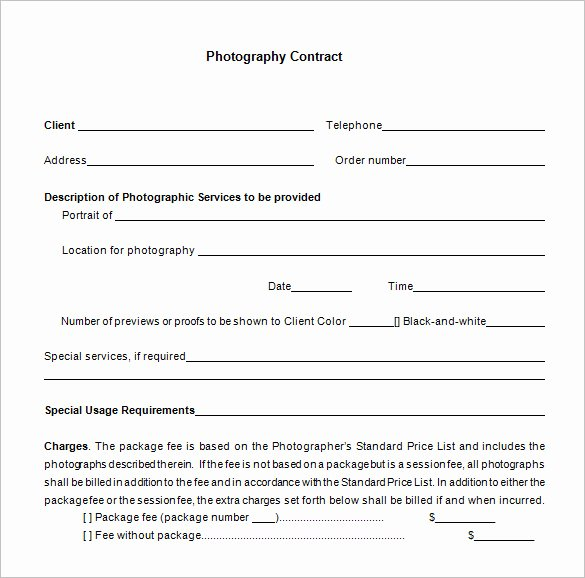 Commercial Photography Contract Template Fresh 9 Mercial Graphy Contract Templates Free Word Pdf formats Download
