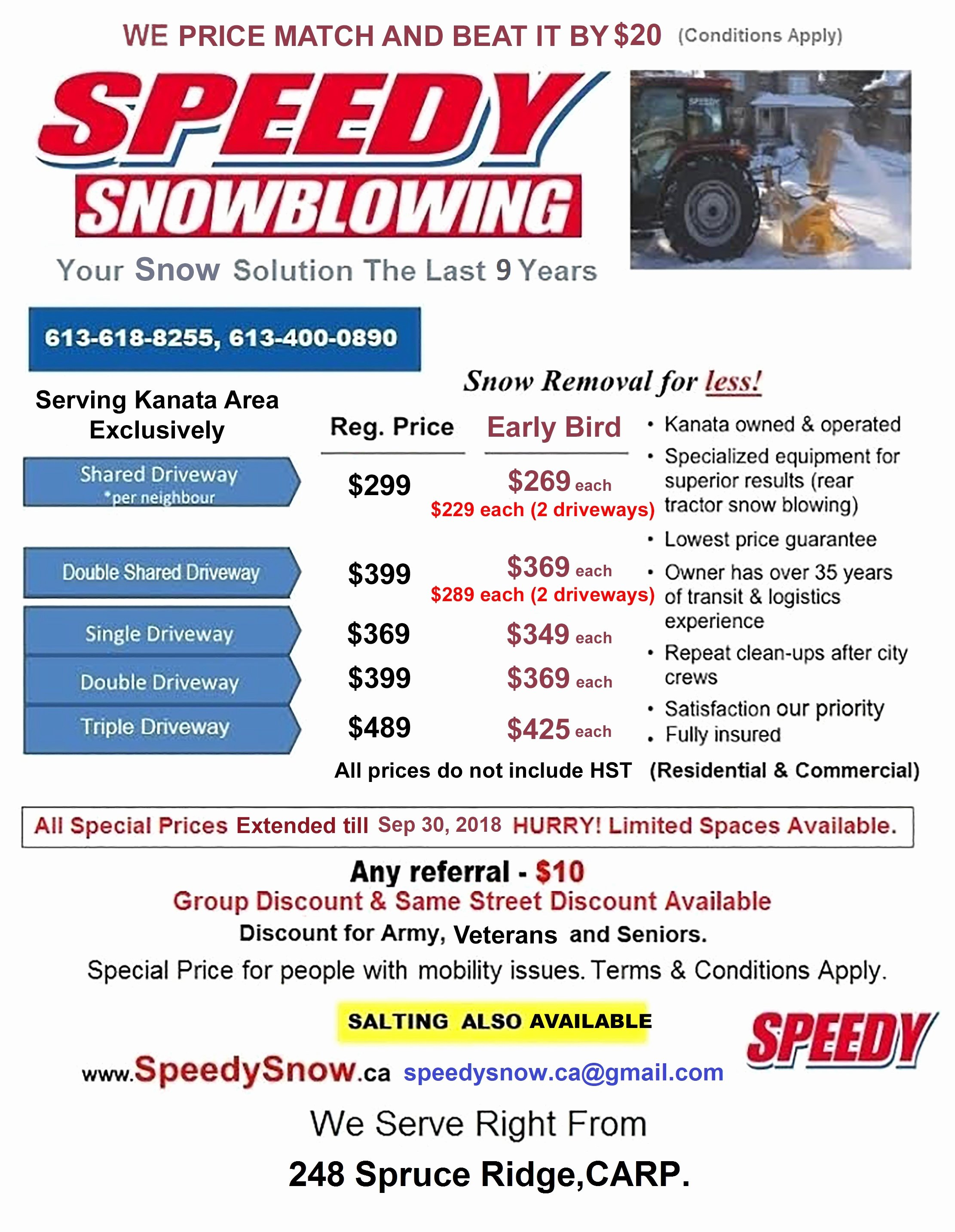 Commercial Snow Removal Contract New Speedy Snow Pricing