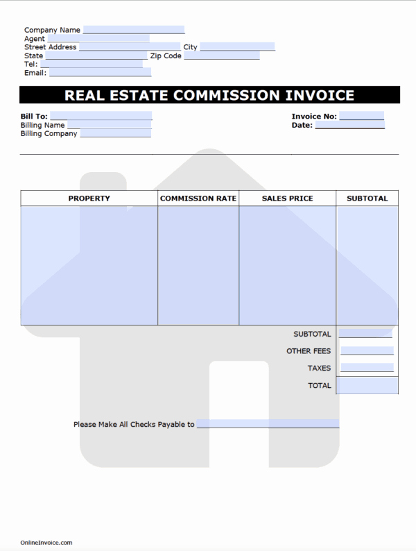 Commission Split Agreement Template Best Of Real Estate Mission Invoice Template Lineinvoice