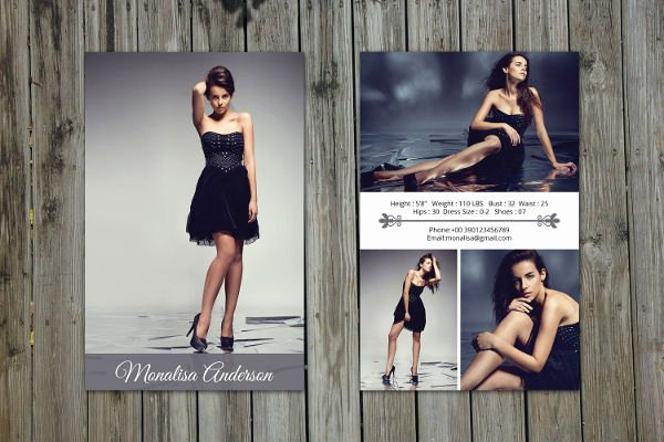 Comp Card Template Free Elegant 8 P Card Templates Free Sample Example format Download