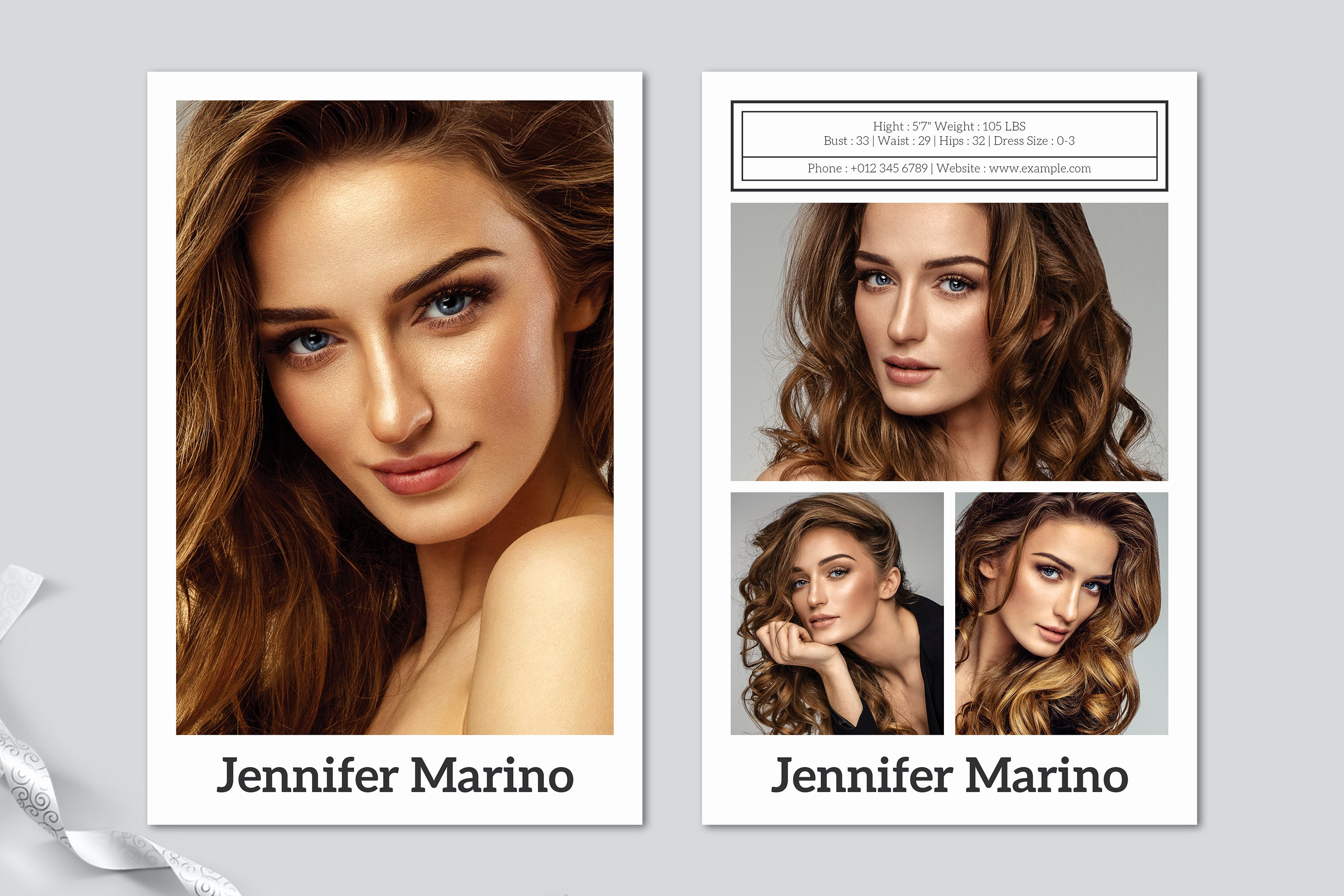Comp Card Template Free Elegant Model P Card Template