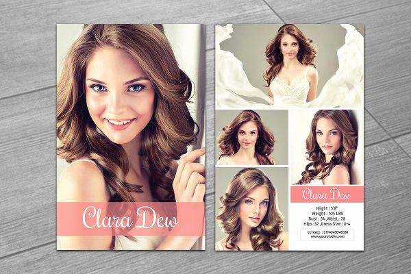 Comp Card Template Free Inspirational 8 P Card Templates Free Sample Example format Download