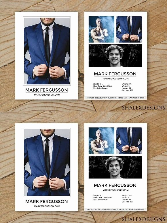 Comp Card Templates Free Elegant Male Modeling P Card Template Creative Card Templates Creative Card Templates
