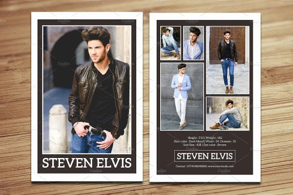 Comp Card Templates Free Lovely 8 P Card Templates Free Sample Example format