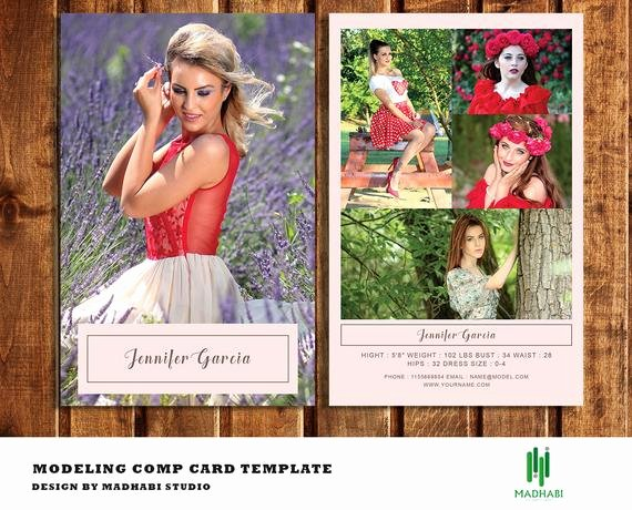 Comp Card Templates Free Luxury Model P Card Template Modeling P Card Fashion Model