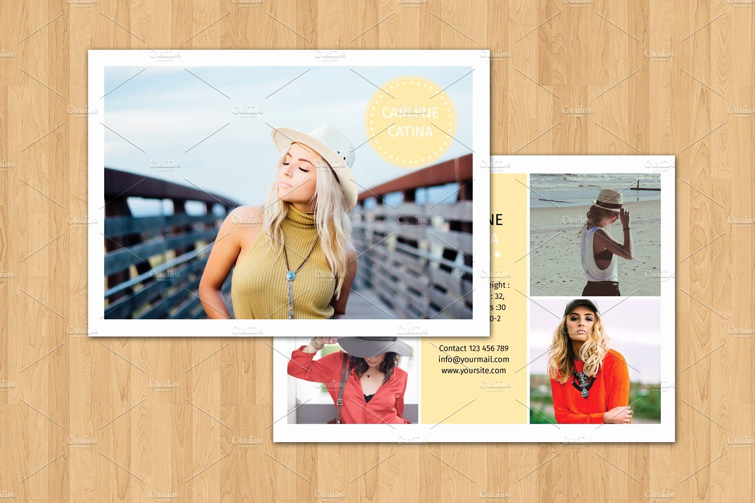 Comp Card Templates Free Unique Model P Card Template V374 Flyer Templates Creative Market