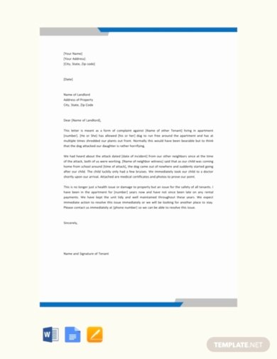 Complaint Letter to Landlord Fresh 10 Best Tenant Plaint Letter Examples & Templates
