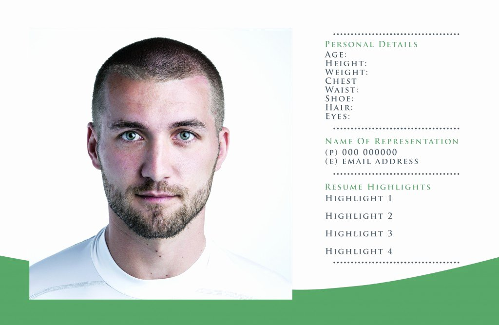Composite Card Template Free Best Of Free P Card Templates for Actor & Model Headshots