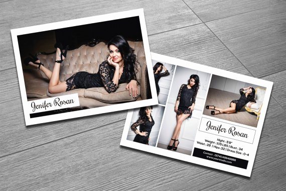 Composite Card Template Free Fresh Modeling P Card Template Fashion Model P Card