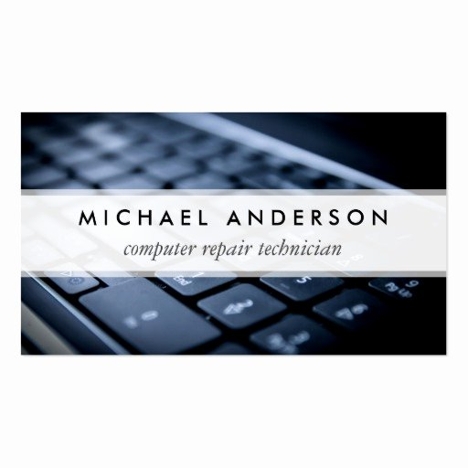 Computer Repair Business Card Beautiful Desktop Laptop Puter Repair Technician Business Card