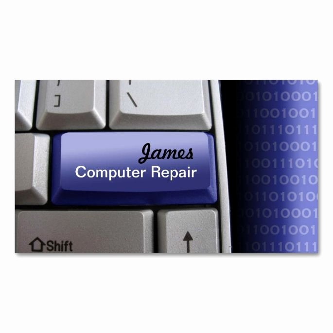 Computer Repair Business Card Best Of Puter Repair Business Cards Zazzle Puter Business Card Templates