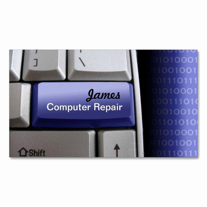 Computer Repair Business Card Best Of Puter Repair Business Cards Zazzle Puter Business Card Templates