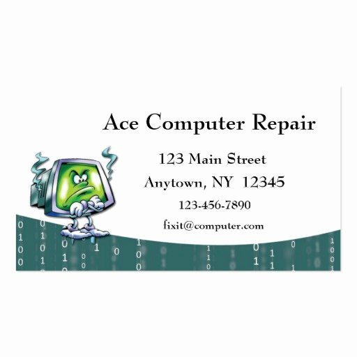 Computer Repair Business Card Elegant Puter Repair Business Card