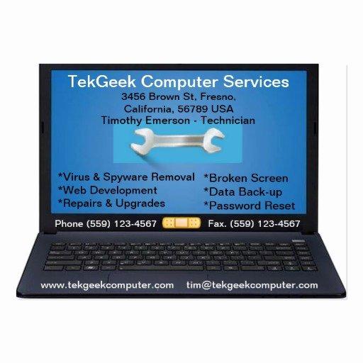 Computer Repair Business Card Inspirational Puter Repair & Services Business Card