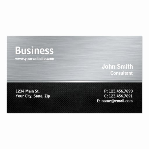 Computer Repair Business Card Luxury Professional Modern Metal Silver Puter Repair Business Card