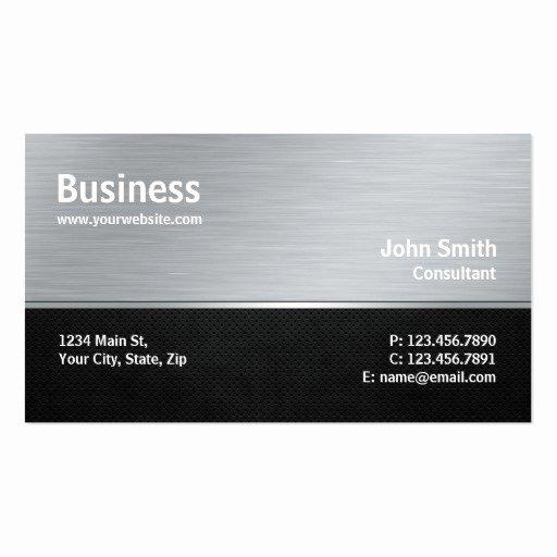 Computer Repair Business Card Luxury Professional Modern Metal Silver Puter Repair Business Card