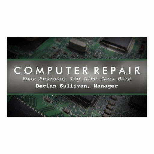 Computer Repair Business Card New Pc Board Puter Repair Services Business Business Card
