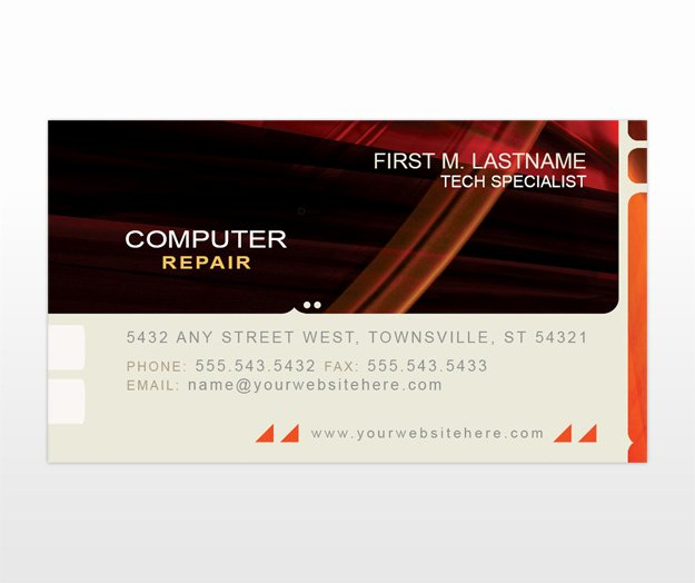 Computer Repair Business Card Unique Puter Repair Business Card Templates Mycreativeshop