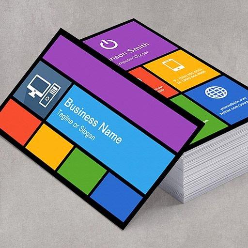 Computer Repair Business Card Unique Puter Retailer Repair Colorful Tiles Creative Business Card Zazzle