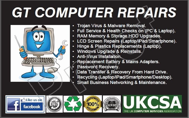 Computer Repair Business Cards Awesome Gt Puter Repairs Cleckheaton 12 Reviews
