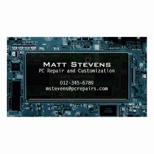 Computer Repair Business Cards Beautiful Puter Repair Business Card Circuits Window