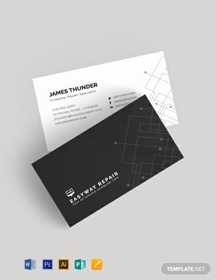 Computer Repair Business Cards Fresh Puter Repair Business Card Template Word Psd Apple Pages Publisher