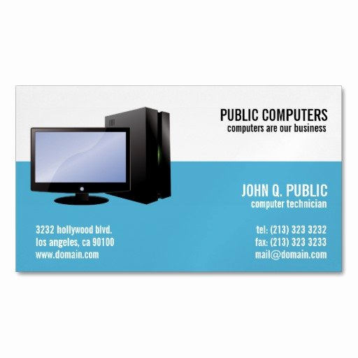 Computer Repair Business Cards Inspirational Puter Repair Magnetic Business Cards