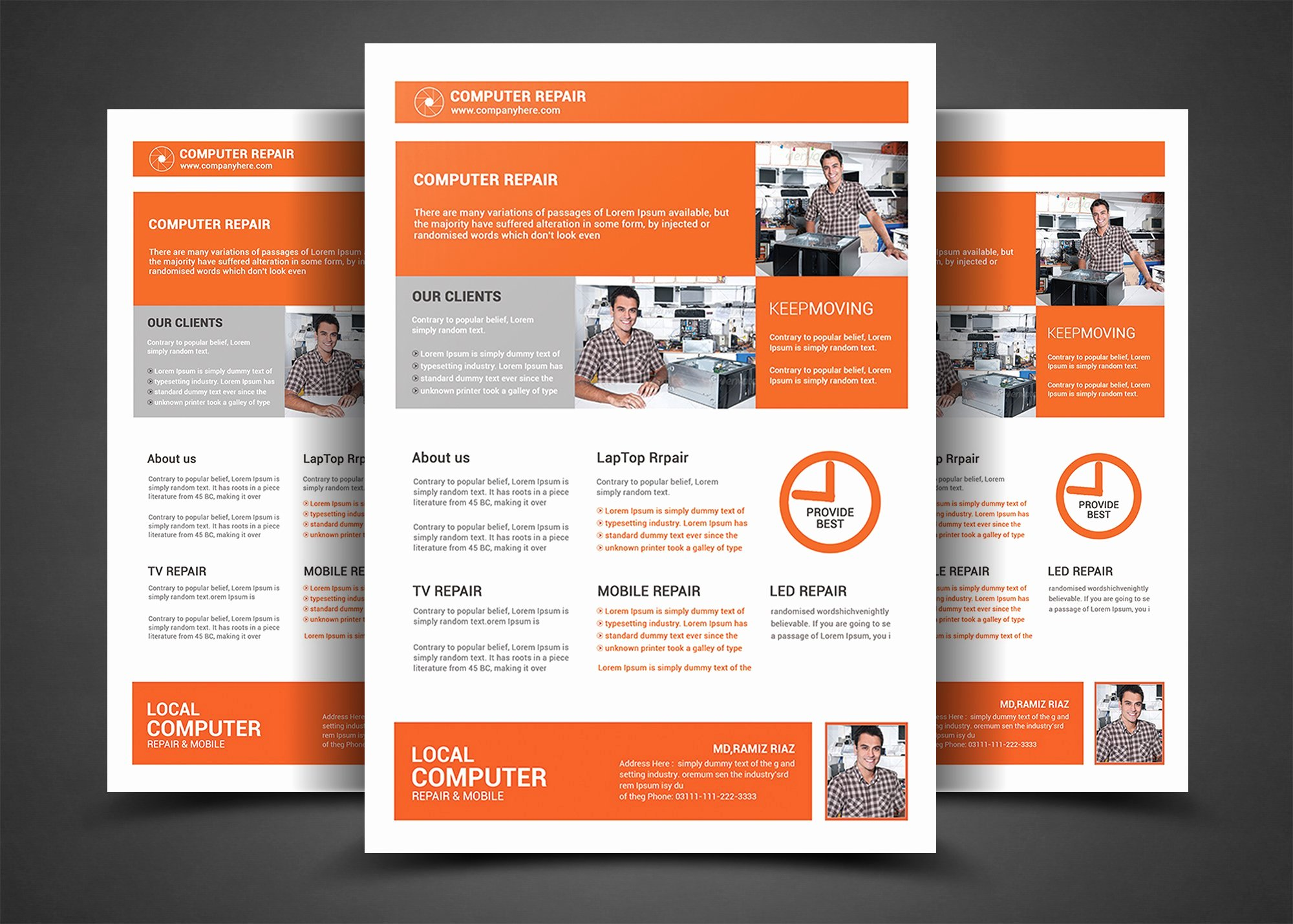 Computer Repair Flyer Template Beautiful Puter Repair Flyer Template Flyer Templates Creative Market