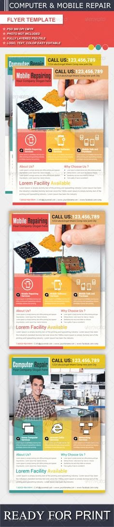 Computer Repair Flyer Template Inspirational Multipurpose Sales Flyer Template