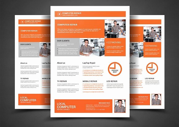 Computer Repair Flyer Template Luxury Puter Repair Flyer Template Flyer Templates On Creative Market