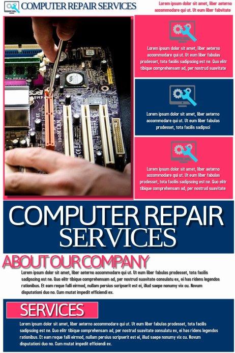 Computer Repair Flyer Template Unique Copy Of Puter Repair