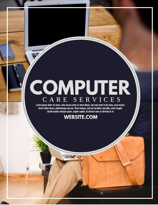 Computer Repair Flyer Template Unique Puter Template