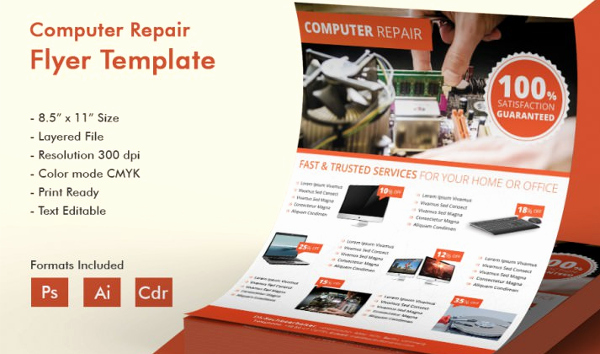 Computer Repair Flyer Templates Awesome 26 Puter Repair Flyer Templates Psd Ai Eps format Download