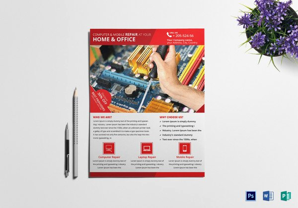 Computer Repair Flyer Templates Awesome Puter Repair Flyers 15 Free Psd Vector Ai Eps format Download