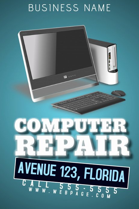 Computer Repair Flyer Templates Elegant Puter Repair Flyer Template