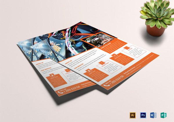 puter repair flyer template