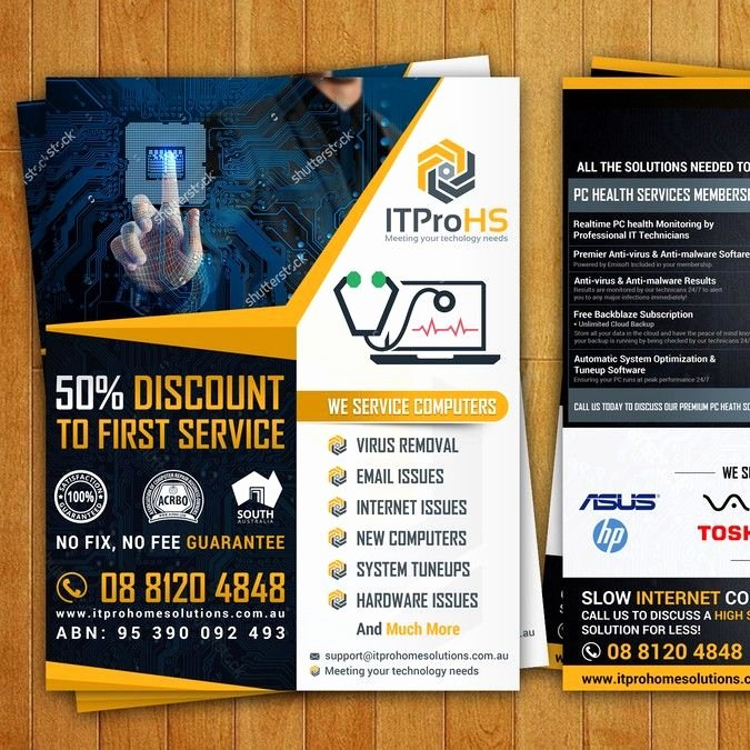Computer Repair Flyer Templates Luxury Create A Modern Flyer for A Puter Repair and Services Startup by Creativemirza