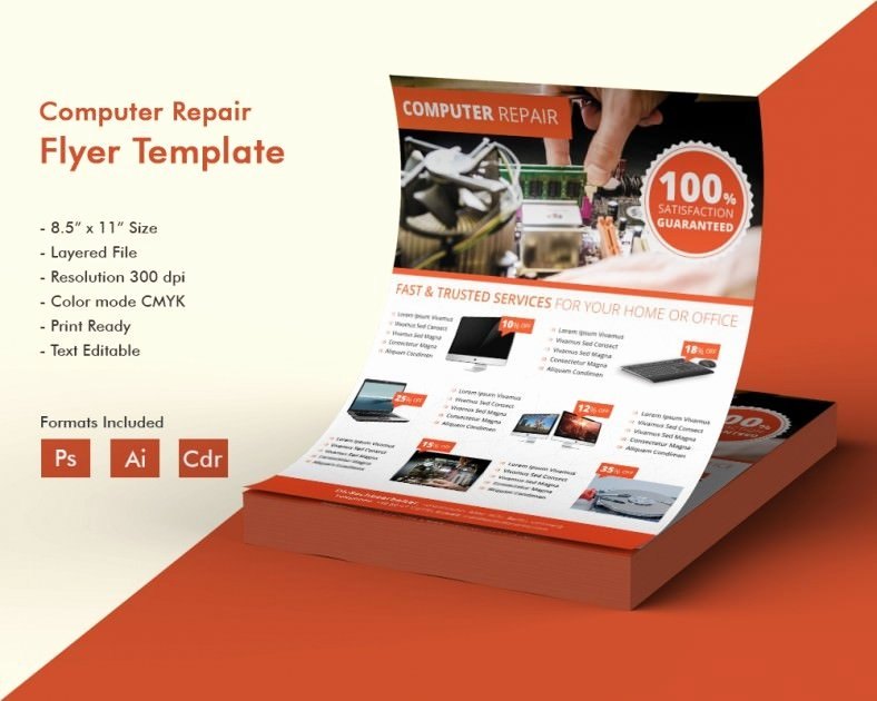 Computer Repair Flyer Templates Luxury Puter Repair Flyer Template – 21 Free Psd Ai format Download