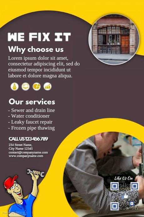 Computer Repair Flyer Templates New Pin by Hailp ⛄️ On Small Business Flyers Diy