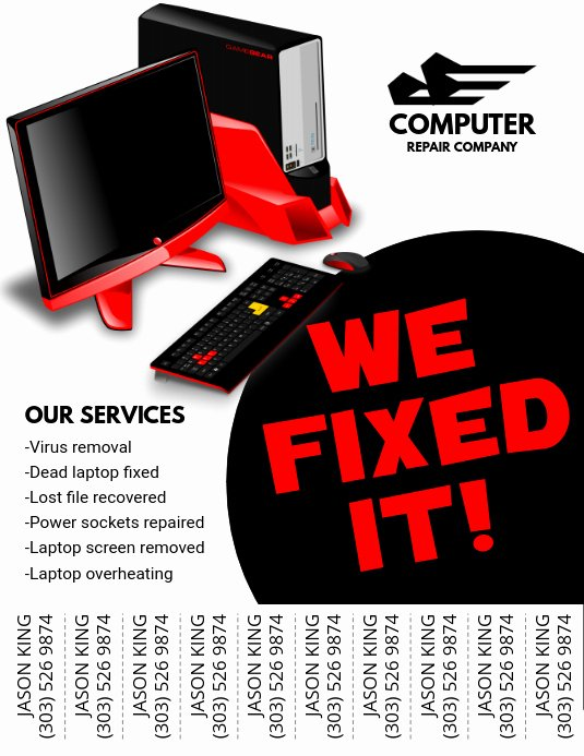 Computer Repair Flyer Templates Unique Copy Of Puter Repair Flyer