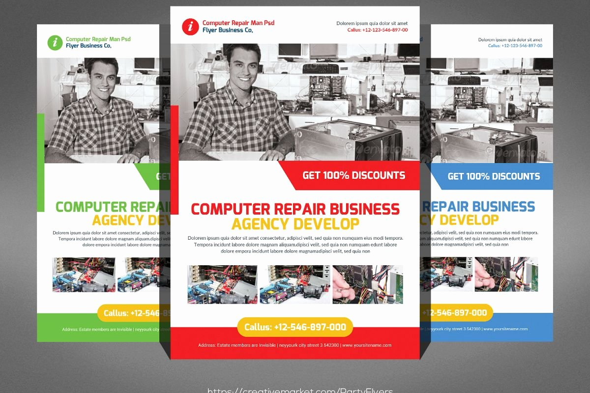 Computer Repair Flyers Templates Inspirational Puter Repair Flyer