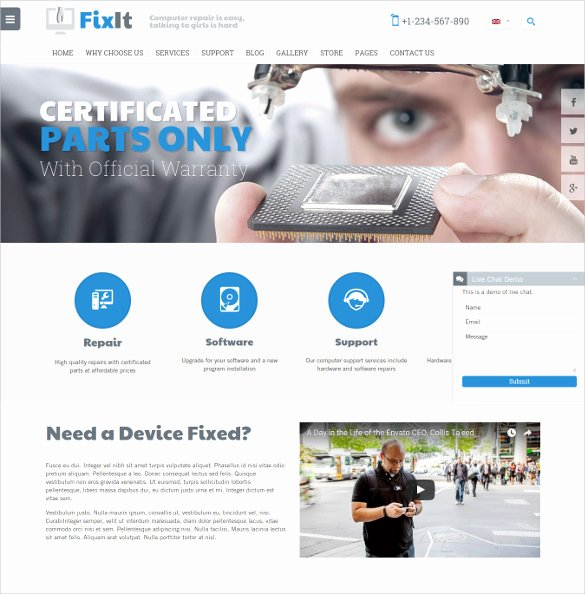 Computer Repair Web Template Awesome 28 Puter Repair Website themes & Templates